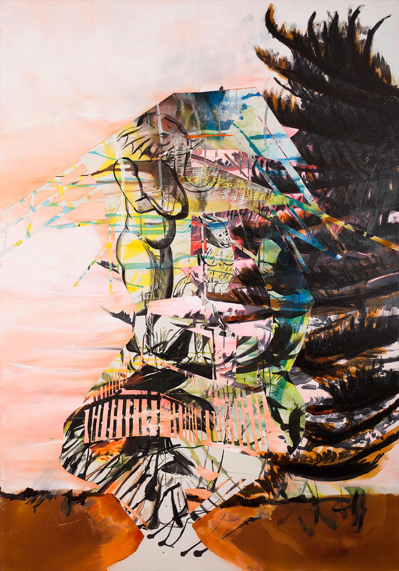 """o.T. aus """"Alm Alb Pacific"""", 2015, 270 x 190 cm, Mischtechnik auf Leinwand"""