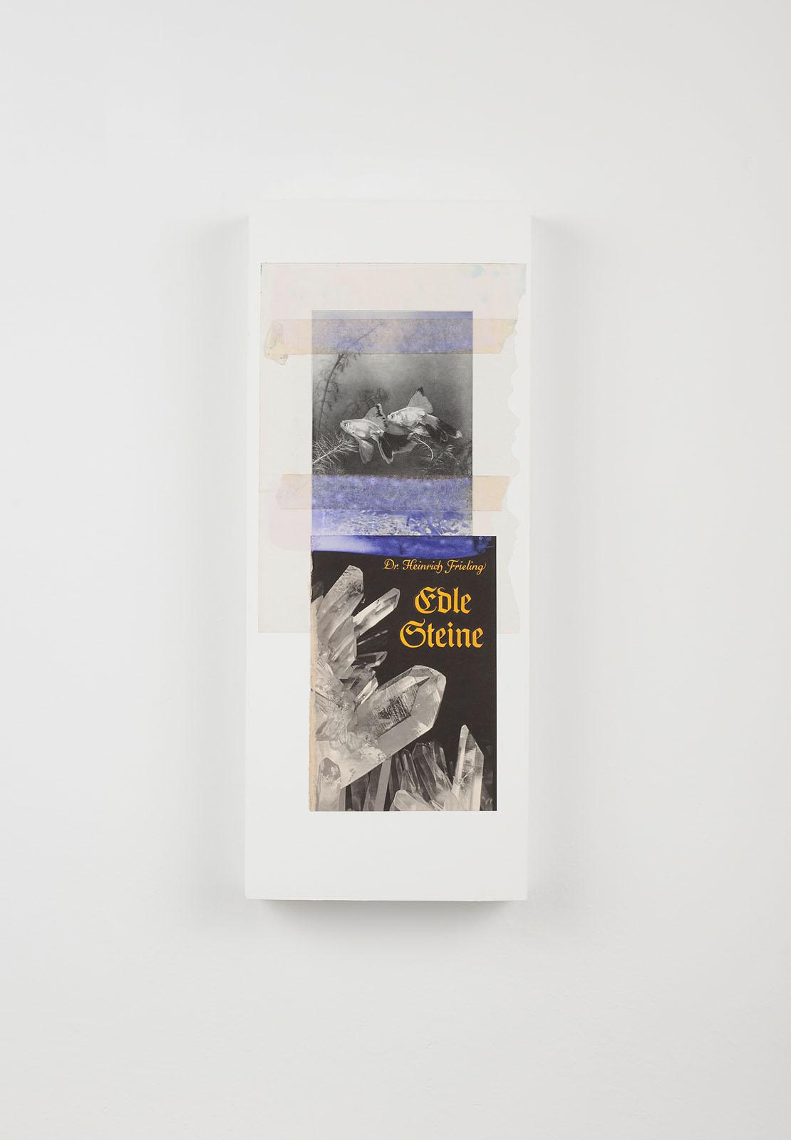 "o.T. aus ""Petrichor"", 2018, 50 x 20 cm, Mischtechnik & Collage auf Holz"