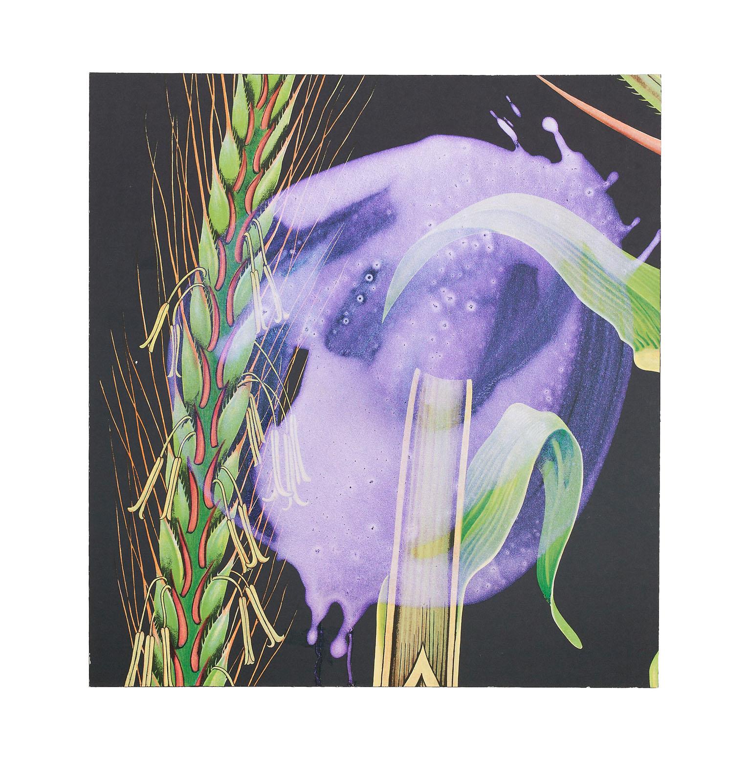 """o.T. aus """"Petrichor – Deep Sea"""", 2017, 43 x 40 cm, Mischtechnik auf Siebdruck"""