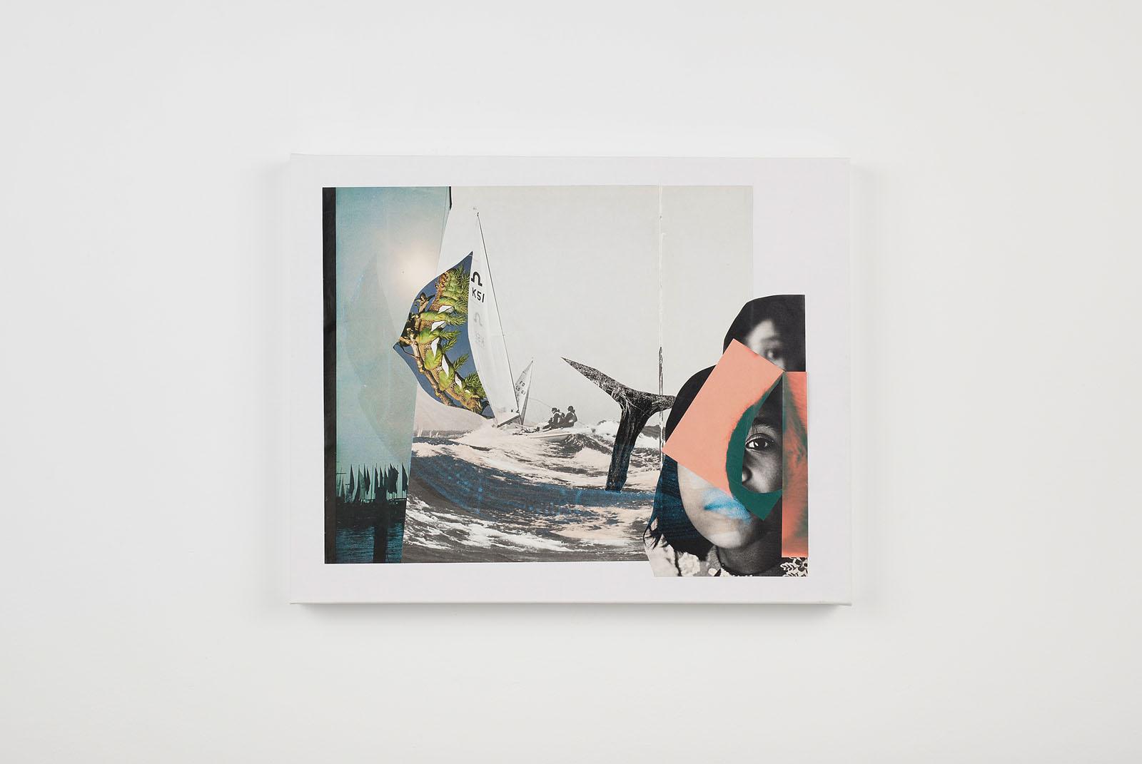 """o.T. aus """"Petrichor"""", 2017, 40 x 50 cm, Mischtechnik & Collage auf Leinwand"""