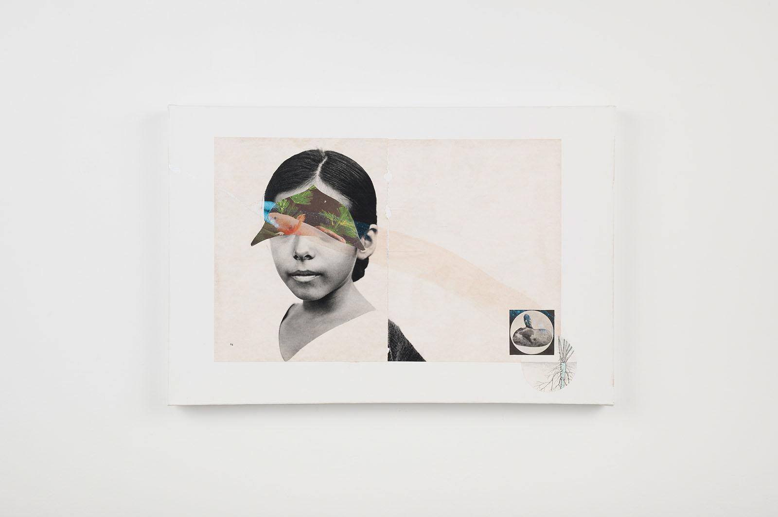"""o.T. aus """"Petrichor"""", 2017, 40 x 60 cm, Mischtechnik & Collage auf Leinwand"""