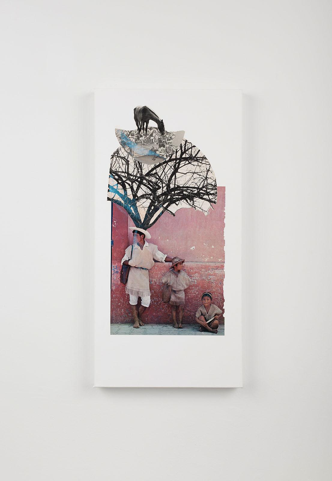 """o.T. aus """"Petrichor"""", 2017, 60 x 30 cm, Mischtechnik & Collage auf Leinwand"""
