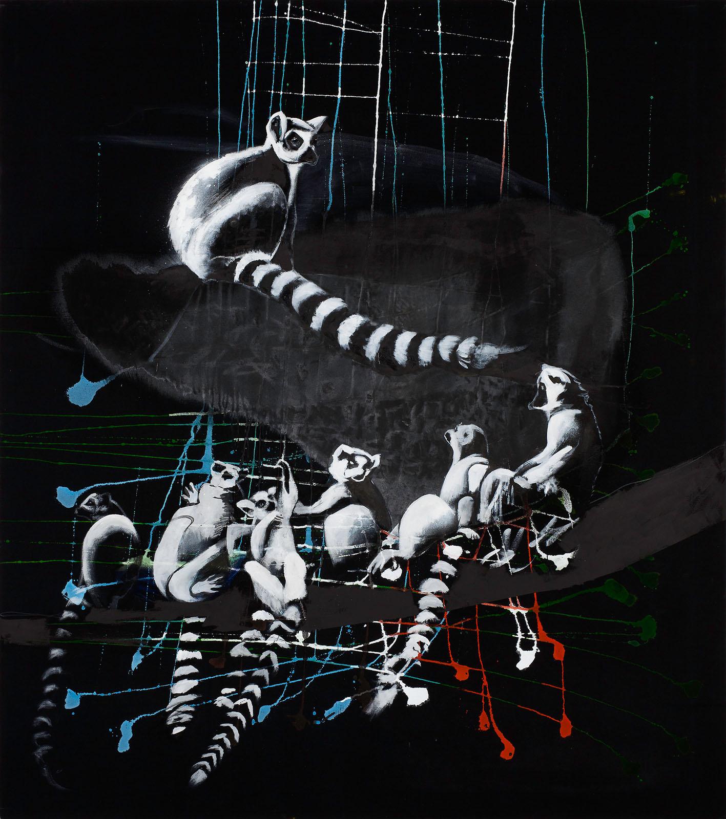 "o.T. aus ""Petrichor"", 2017, 180 x 160 cm, Mischtechnik auf Leinwand"