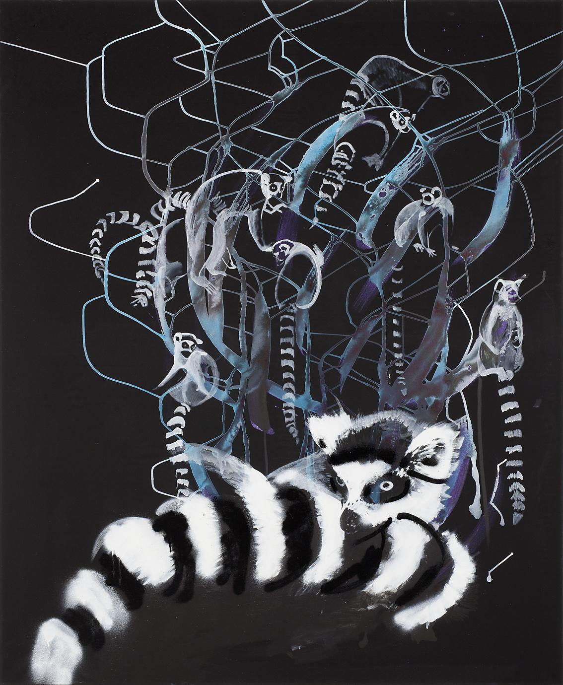 "o.T. aus ""Petrichor"", 2017, 170 x 140 cm, Mischtechnik auf Leinwand"