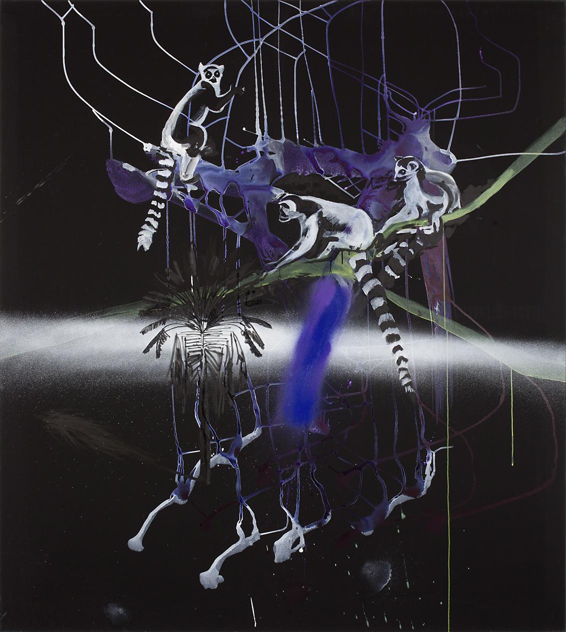 "o.T. aus ""Petrichor"", 2017, 190 x 170 cm, Mischtechnik auf Leinwand"