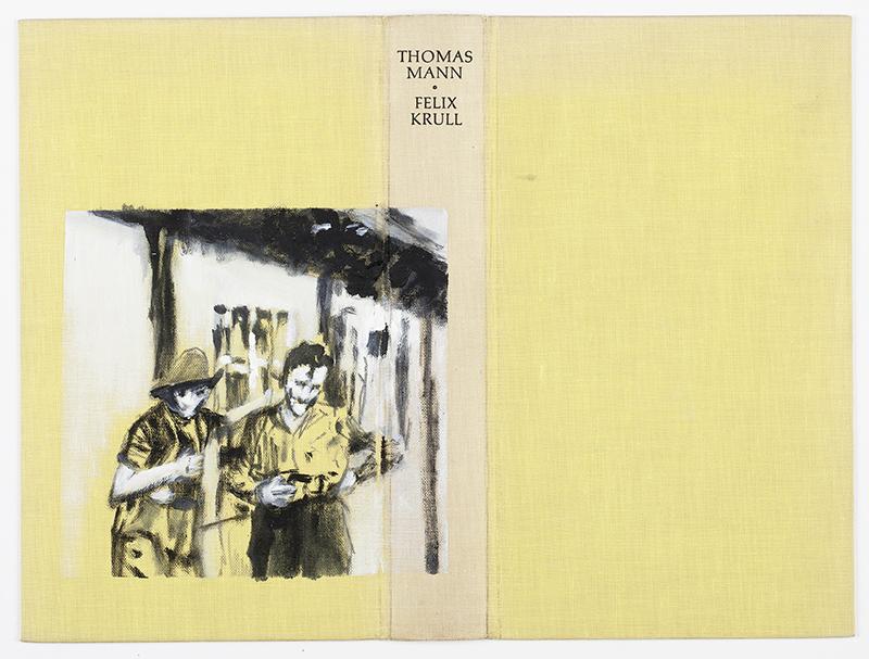 """o.T. aus """"Wenig Zeit zwischen zwei Fingern"""", 2015, Mischtechnik auf Bucheinband"""