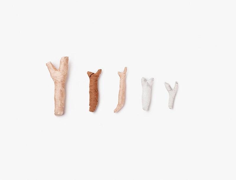 """o.T. aus """"Wünschel"""", 2015, Tornado-Holz, diverse Materialien"""