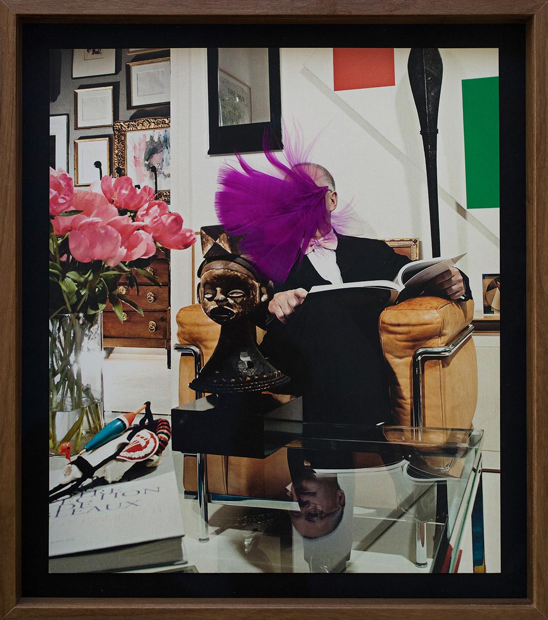 """""""Jan"""" aus """"Buben"""", 2015, ca. 29 x 24,5 cm, Federassemblage auf Laserprint"""