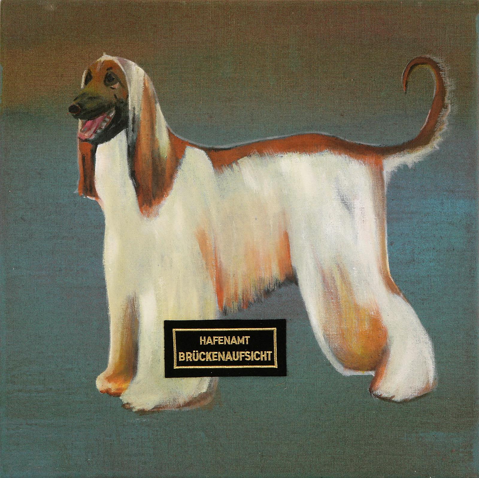 """o.T. aus """"Krähen Kommen"""", 2008, 60 x 60 cm, Mischtechnik & Applikationen auf Leinwand"""