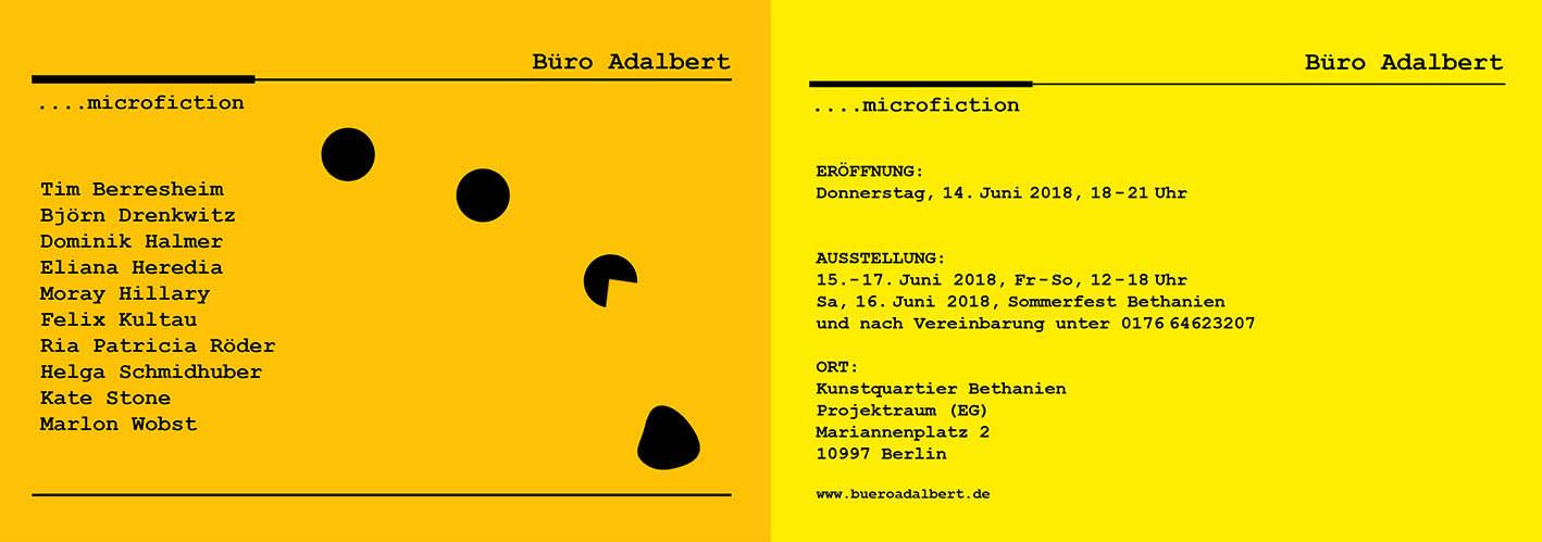 Büro Adalbert Ausstellung
