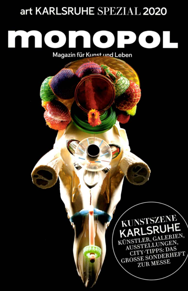 Helga Schmidhuber Coverstory in Monopol art Karlsruhe Spezial 2020