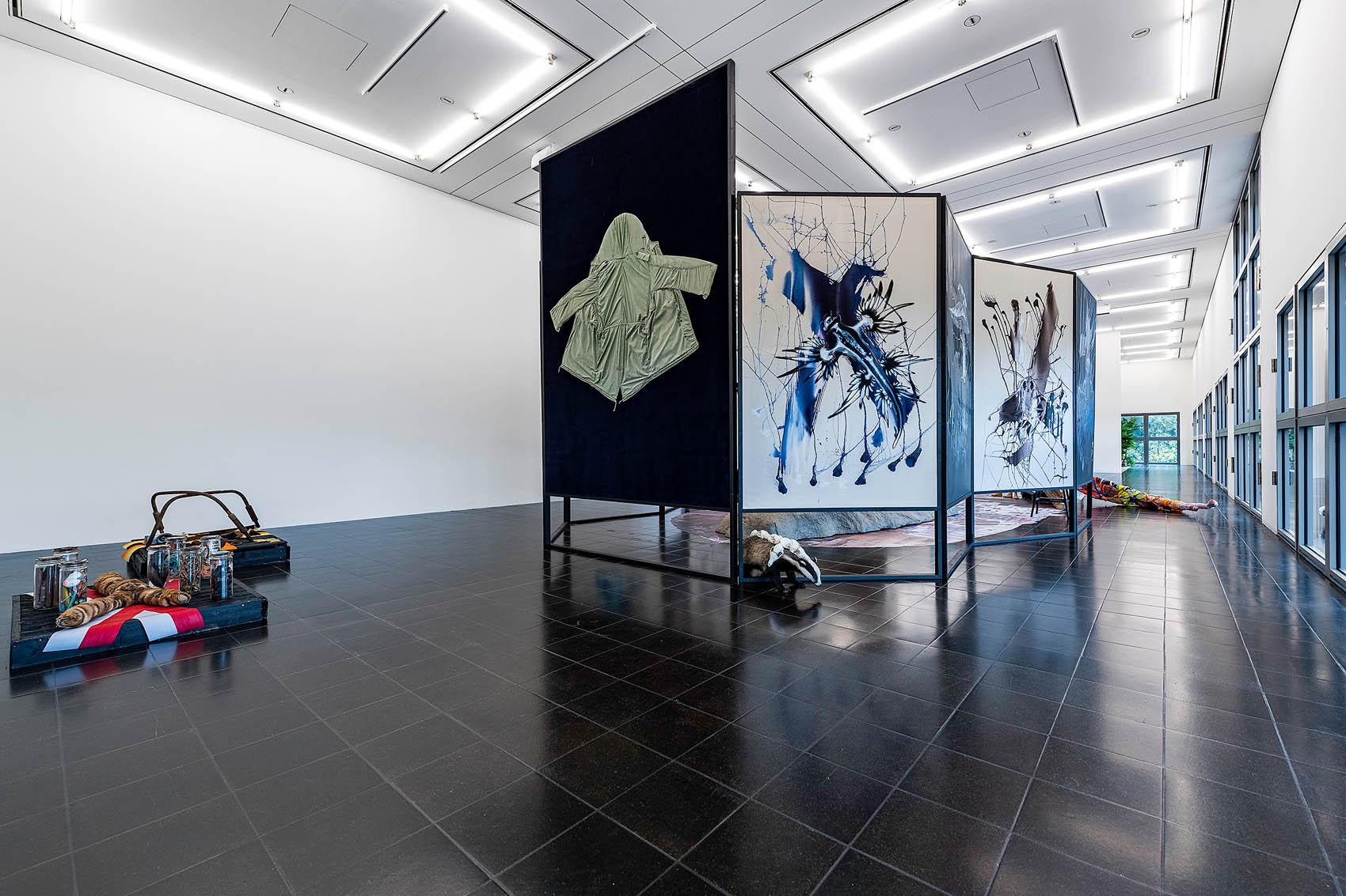 """""""ARCHE endemisch"""", 2020, Installationsansicht in """"Die absurde Schönheit des Raumes"""", Hamburger Kunsthalle"""